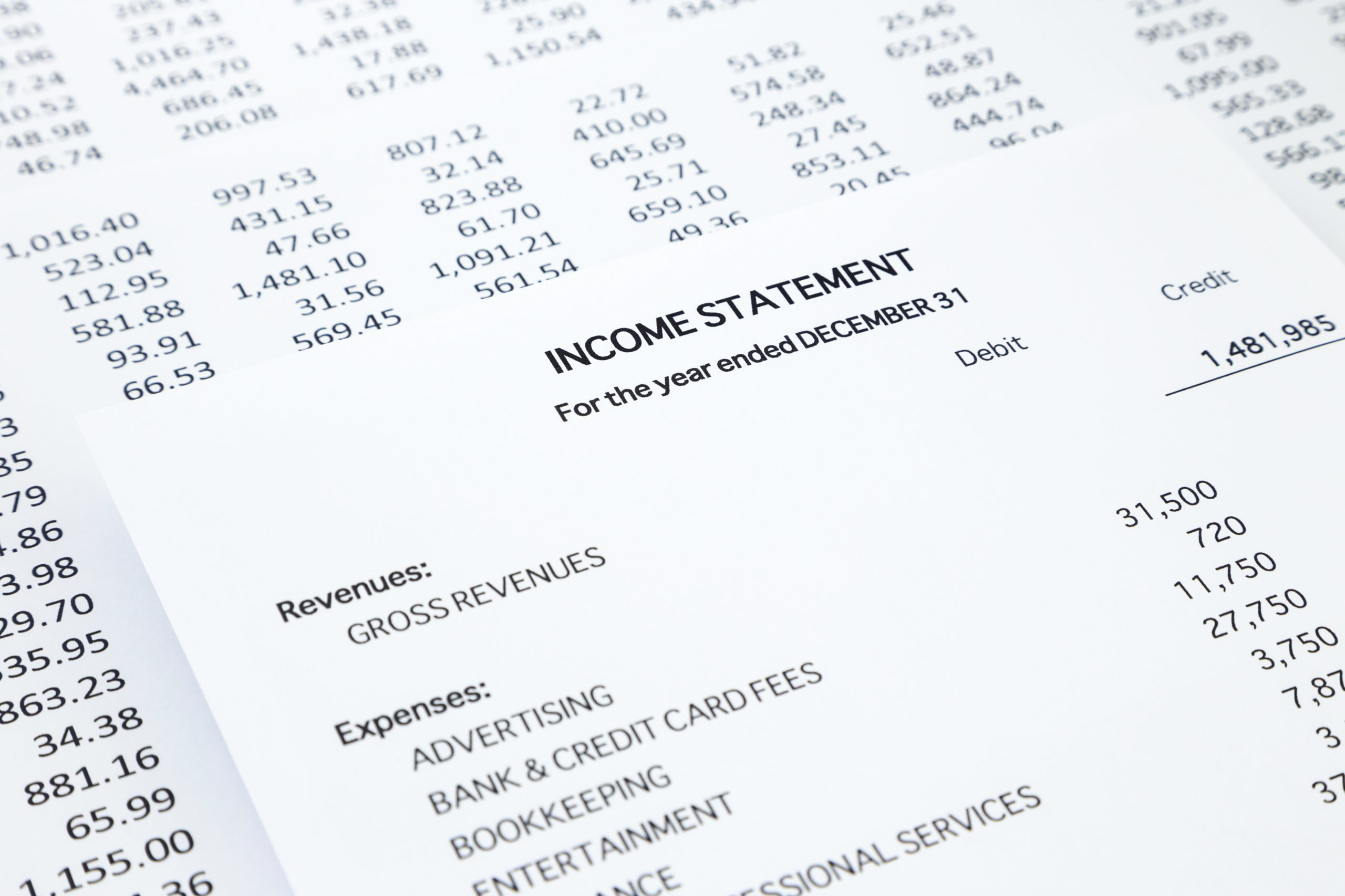 financial statements used by electrical contractors